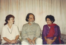 Bapsi with poet friends